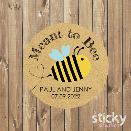 Personalised 'Meant to Bee' Stickers - Cute Bee Design